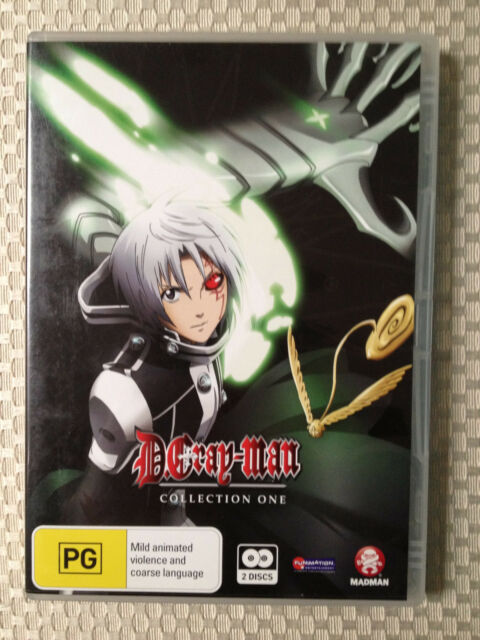 D. GRAY-MAN COLLECTION ONE ~ SCI-FI ANIME ~ 2 DISC DVD SET ~ HUGE 325 MINS