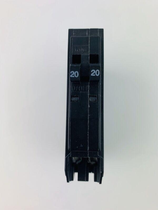 Square D QOT2020 Tandem Double Circuit Breaker 20 Amp  120/240V Single Pole NWB