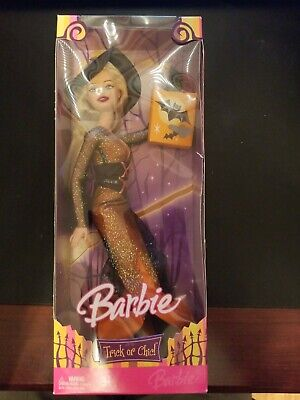 Barbie HALLOWEEN TRICK OR CHIC BARBIE Doll Witch Blond 2006 Mattel New