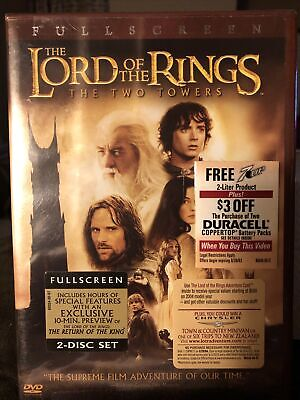 The Lord Of the Rings: The Two Towers (DVD, 2002, 2-Disc Set, Full Screen) NEW