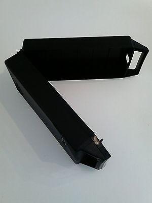 KassettenKoffer Box  Schutz Aufbewahrung 12 MC Tape Tragegriff praktisch schwarz