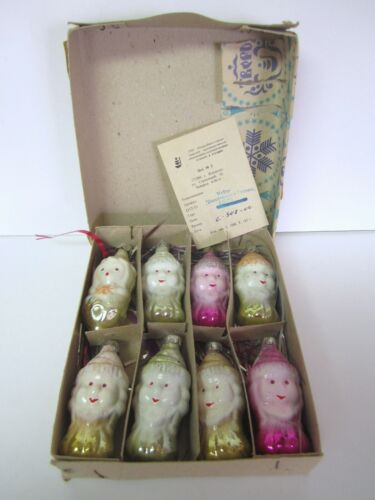Vintage Glass Russian Christmas Ornaments