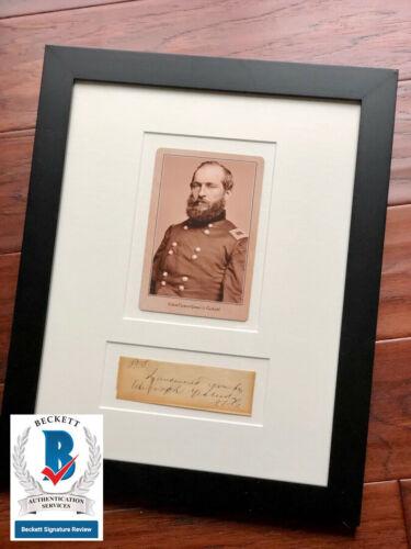 JAMES A. GARFIELD * BAS * Handwritten Autograph Note Signed * President