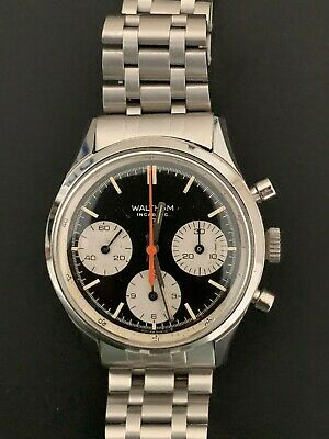VINTAGE WALTHAM 3 REGISTER CHRONOGRAPH 37 mm MANUAL WIND MEN'S WATCH