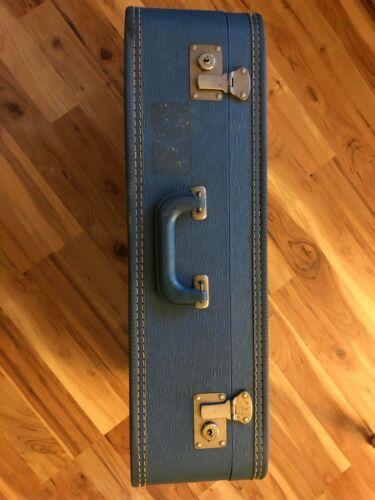 Vintage Blue Monarch Suitcase