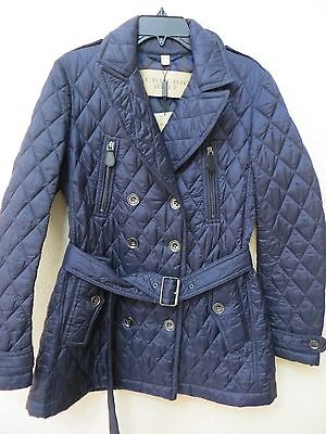 NEW  BURBERRY BRIT Women Military Navy Puffer Coat Size L MSRP $ 750.0.00