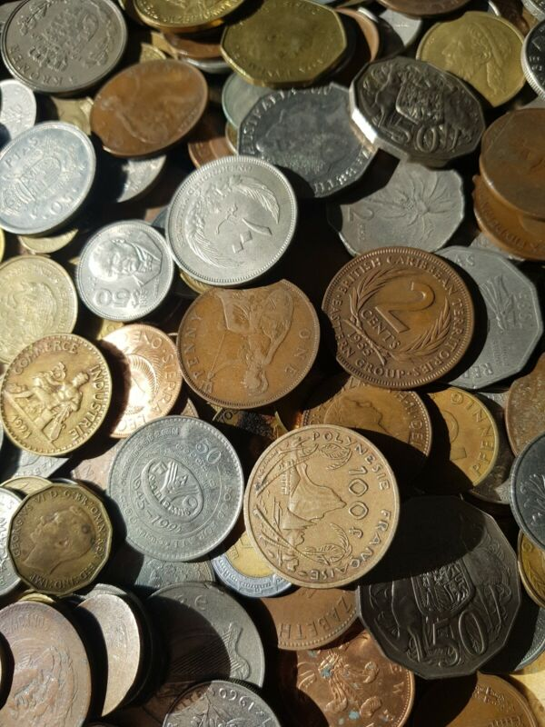 World coins 7 pounds,great selection!!