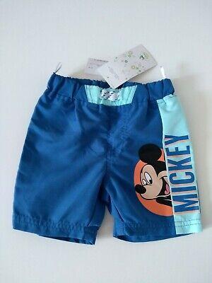 Disney Baby Micky Maus Badehose Mickey Mouse Bermuda Shorts Größe 80 NEU