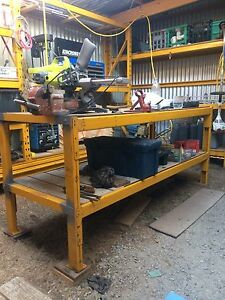 Steel work bench with shelf Frankston Frankston Area Preview