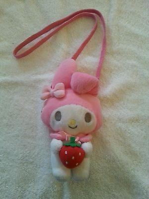 Sanrio Smiles Vintage My Melody 1976 plush coin purse necklace RARE!