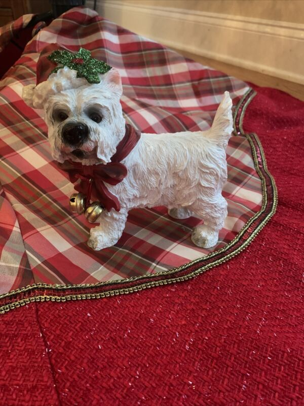 Westie West Highland White Terrier Christmas Dog Figure