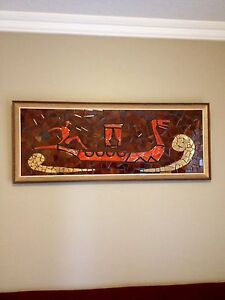 Maurice Chalvignac framed ceramic art
