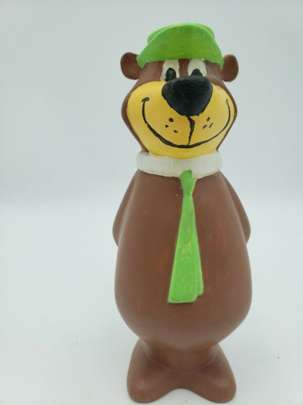 Hanna Barbera Yogi Bear Painted Piggy Coin Bank Vintage Ceramic