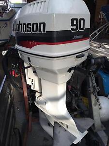 Outboard motor 90 hp v4 johnson tilt trim 20 inch Seabrook Hobsons Bay Area Preview