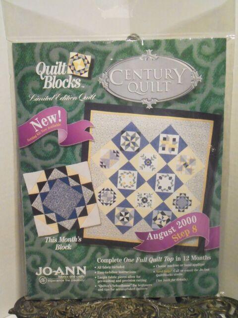 Joann Fabrics Century Quilt Block Kit August 2000 Harmony Opened ... : joann fabrics quilt kits - Adamdwight.com