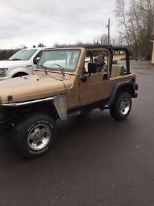 1999 Jeep tj ($2500)