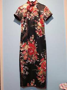 RRP$98.60 (NEW) Black Qipao Cheongsam Chinese Dress fits size6-8 Runcorn Brisbane South West Preview