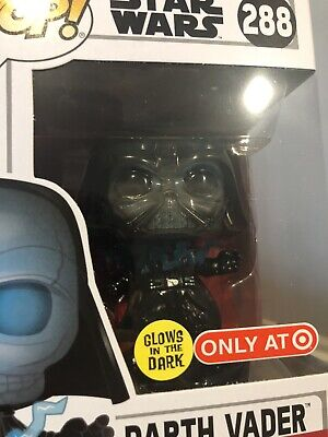 Funko Pop! Star Wars #288 Darth Vader Target Exclusive Glows In Dark New In Box