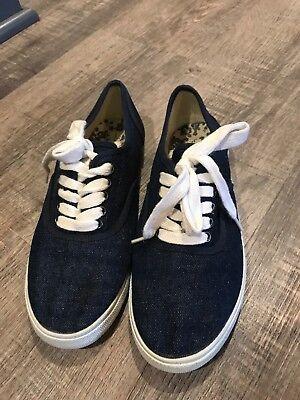 WOMENS MOSSIMO BLUE DENIM TENNIS SHOES FLATS SIZE 7 - Blue Denim Tennis Shoe