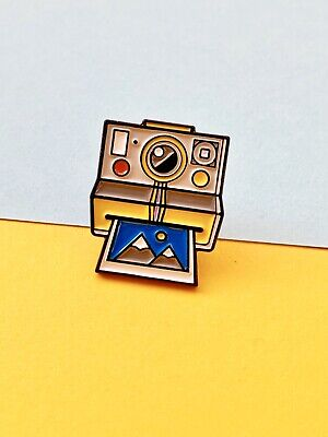 Polaroid Retro Camera Enamel Pin Badge, A Great Gift For Any Photograher