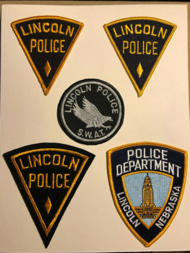 Lincoln Nebraska Police Department Patches