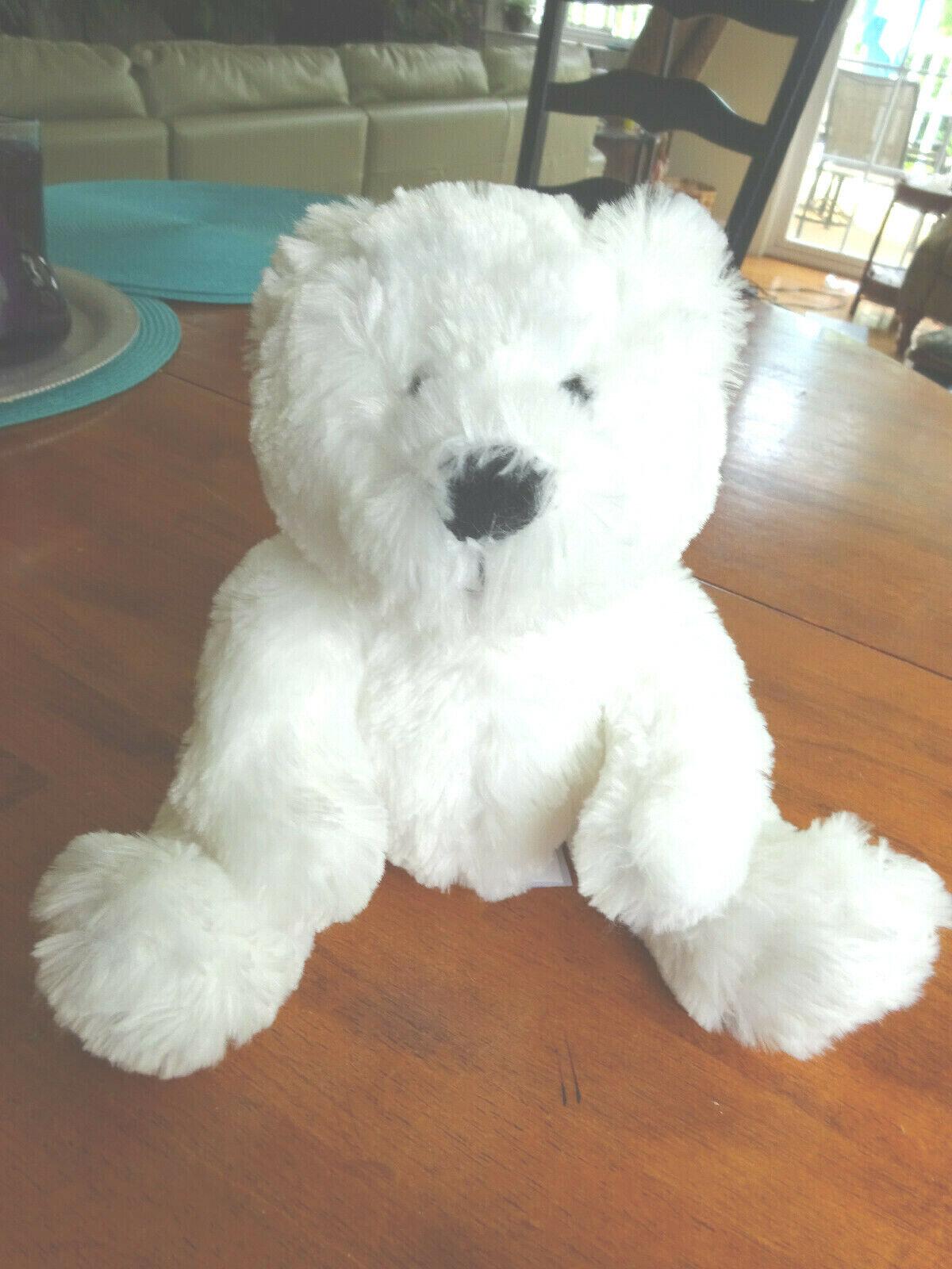 White Bear - Stuffed Animal - Furry Plush - RBI Ron Banafato, Inc. - 13  - $4.00