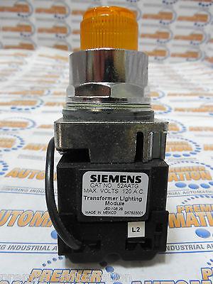 Siemens 52pt6g9a Push To Test Pilot Light Transformer Type 120 Volts Ac