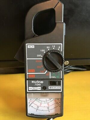 Its A Snap 71240 Clamp Electrical Meter Used Made In Tiawan