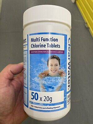 Clearwater CH0019 Mini Multifunction Chlorine Tablets, 50 x 20gb NEW