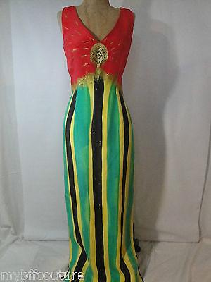 Beautiful Vint Circ 80's MARIA SNYDER Hand Designed Full Length Silk Dress Sz 6