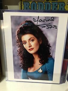 Star Trek TNG counsellor Troi  Marina Sirtis Autographed Photo