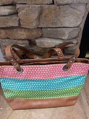 Womens multi-colored Handbag/Purse