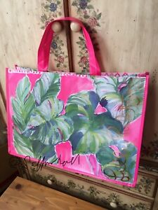 ✈️🌴 NWOT Lilly PulitzeR Beach Go Bag Tote Weekender Shopper  🚁⚓️