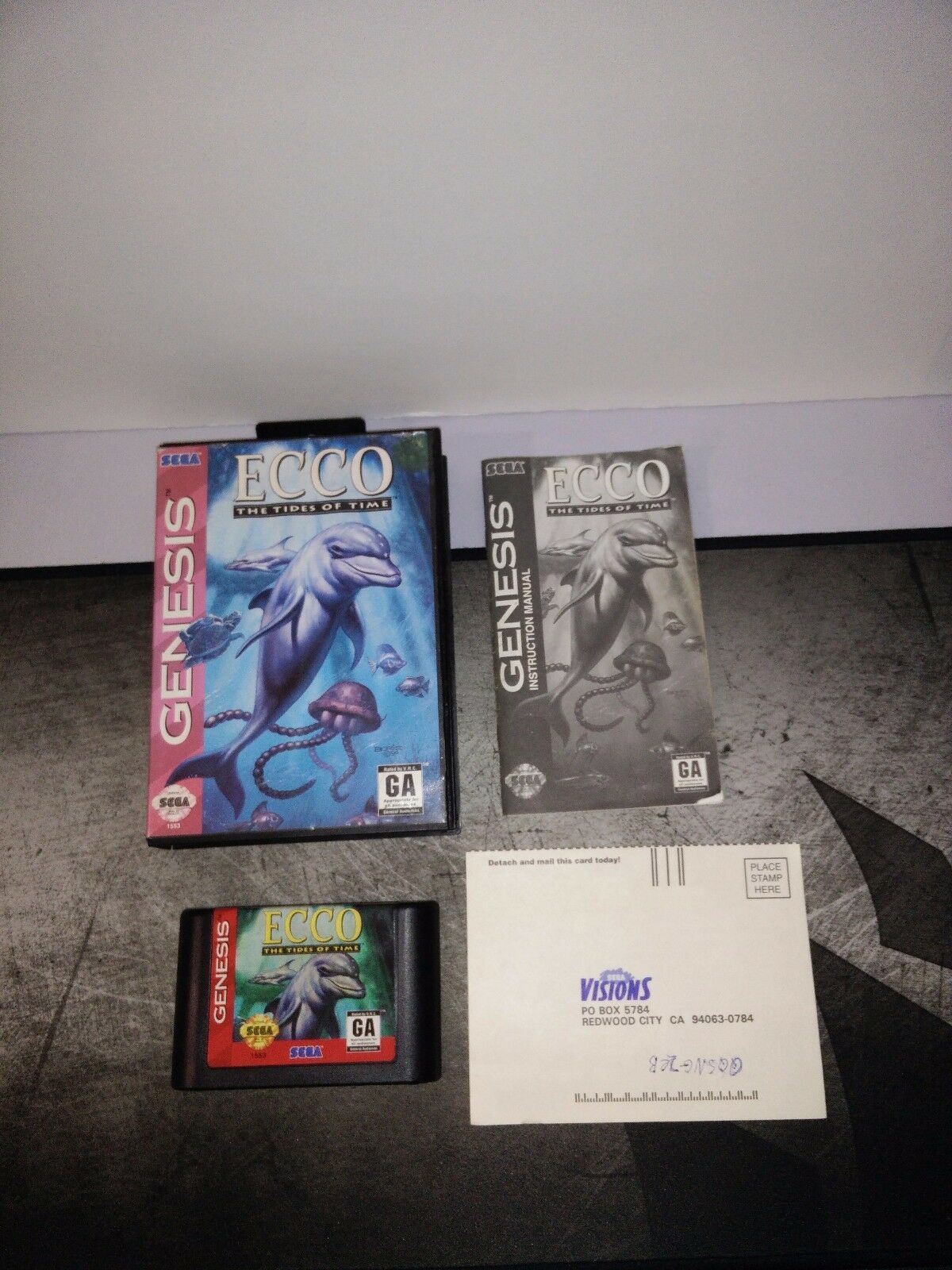 SEGA GENESIS ECCO THE TIDES OF TIME  - $14.99