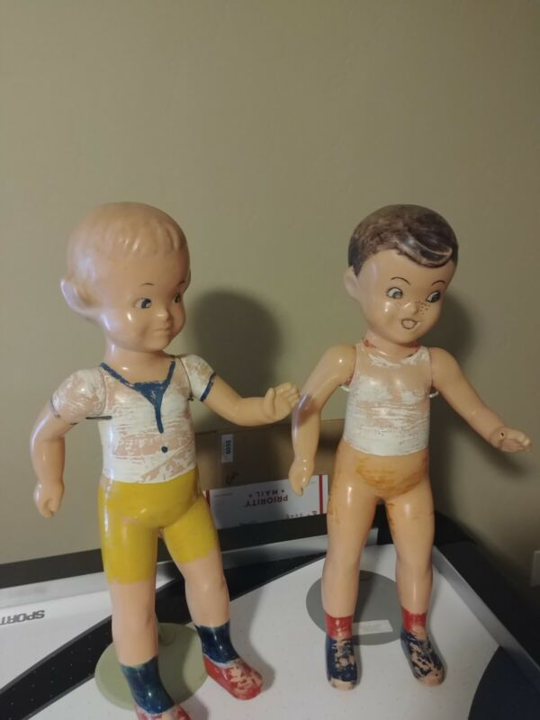 Lot 1950's BIG Buster Brown Mary Jane Shoes Display Mannequin Dolls