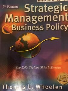 Strategic Management Business Policy T. wheelen
