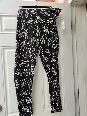Halloween leggings Black Skeletons