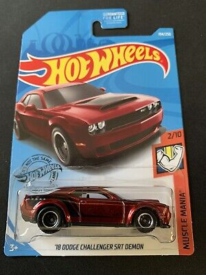 2019 HOT WHEELS '18 DODGE CHALLENGER SRT DEMON SUPER TREASURE HUNT W/PROTECTOR