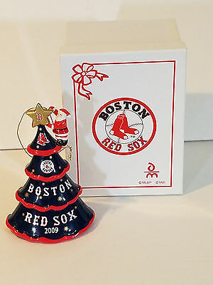 "Boston Red Sox Baseball  2009 Christmas Tree Ornament Danbury Mint 5"" With Box"