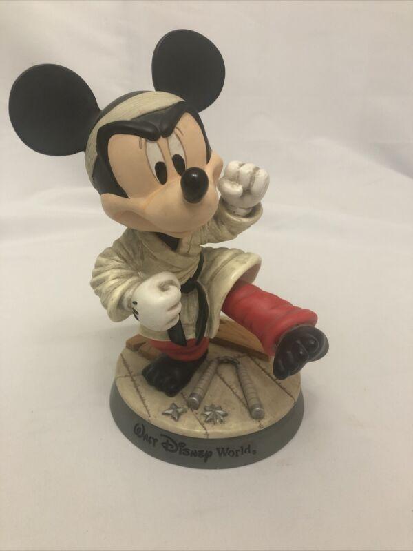 Walt Disney World Mickey Mouse Karate Bobble Head and Bobble Leg Figurine