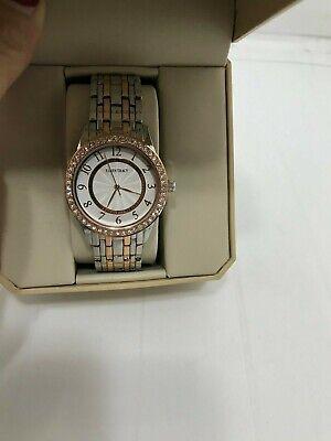 Womens Ellen Tracy Crystal Bezel Bracelet Watch - ET5315TTRG - Crystal Bezel Bracelet Watch