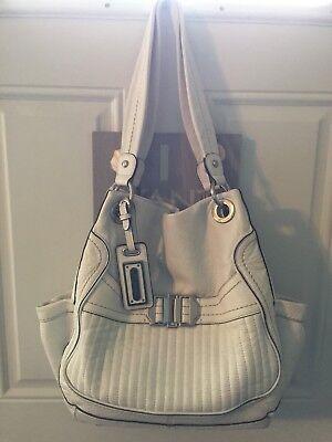 b makowsky large leather handbag EUC
