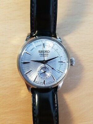 Seiko Presage Cocktail Time Skydiving blue with power reserve indicator