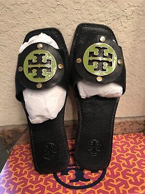 Tory Burch Gabby Slide Sandal Dark Navy/green 7.5 EUC RARE!