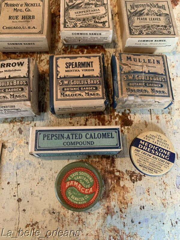 VICTORIAN AMERICANA APOTHECARY GROUP OF MEDICAL HERBS, FINE GRAPHICS. L@@k!!
