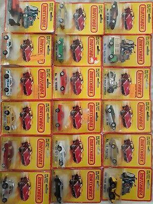 Lesney matchbox Superfast lot of 18 mint in original blister cards....
