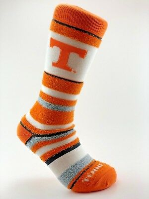 Tennessee Volunteers Ncaa Stripes - Official NCAA College Tennessee Volunteers Soft Stripe Crew Socks Medium