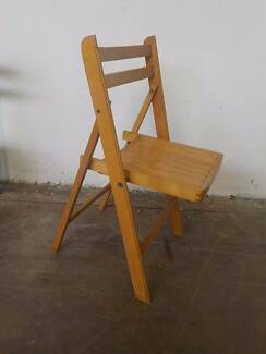 B9073 Wooden Timber Folding Chair Camping Caravaning Mount Barker Mount Barker Area Preview