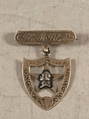 ANTIQUE 10K GOLD PATRIOTIC ORDER SONS OF AMERICA PIN