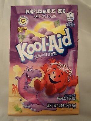 48 *RARE* Kool Aid Drink Mix PURPLESAURUS REX IN ORIGINAL BOX. BEST USED BY